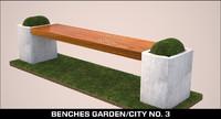 benches garden city 3d max