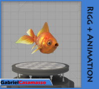 golden fish 3d model