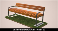 bench garden city no. 10