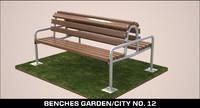 3d model benches garden city