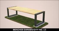 3d benches garden city