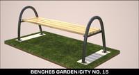 3d benches garden city model