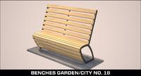 benches garden city 3d model