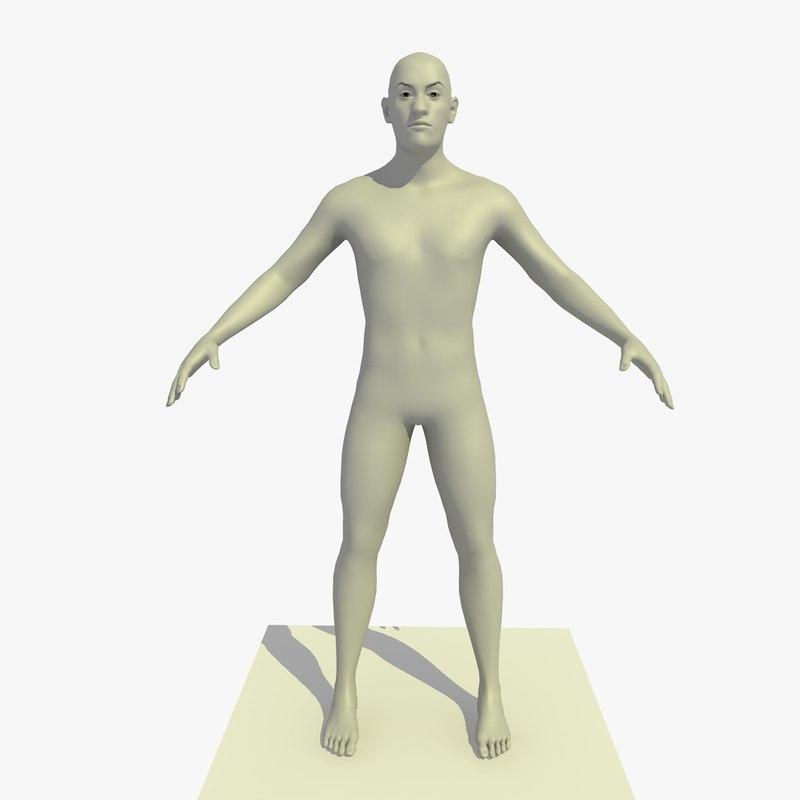 base mesh 25 year 3d model