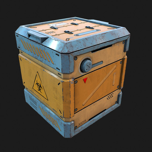 fbx sci-fi biohazard container