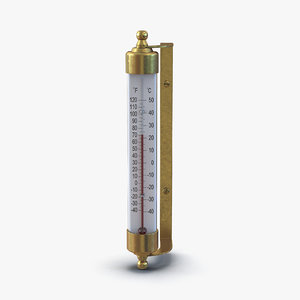 outdoor thermometer 3d c4d