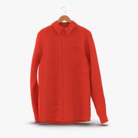 shirt hanger 2 3d model