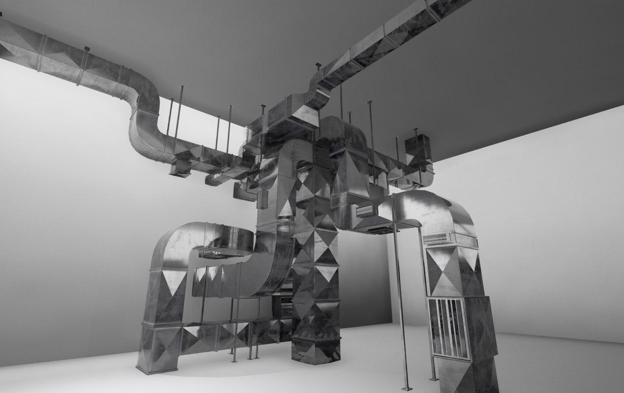 3d model air ducts modular 21