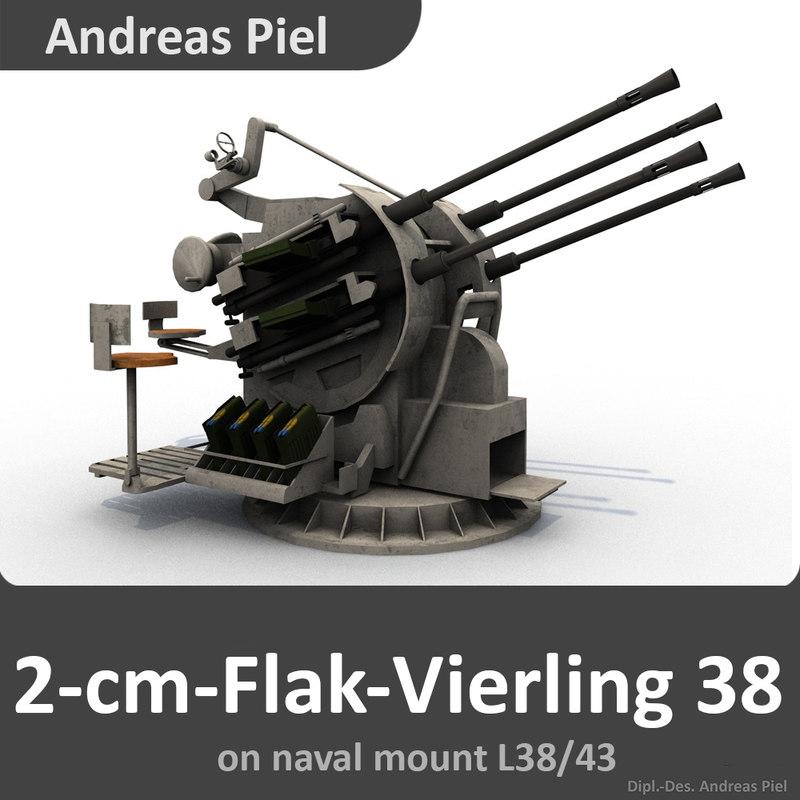 2-cm-flak-vierling 38 c4d