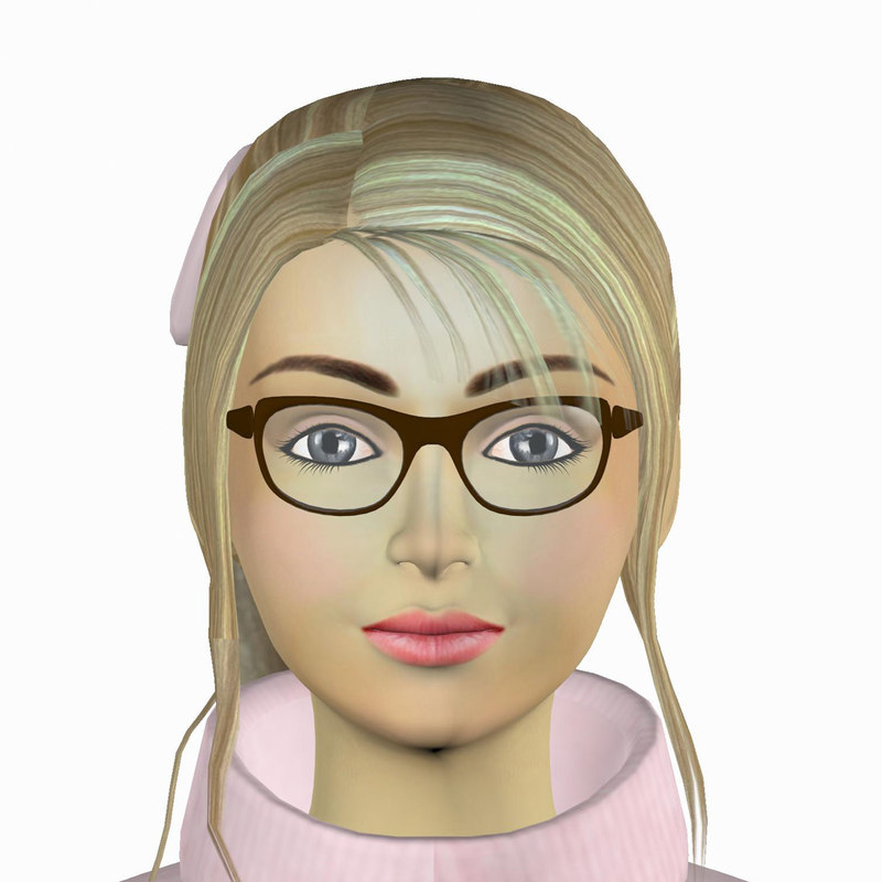 3d model girl helen