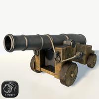vessel cannon 3d max