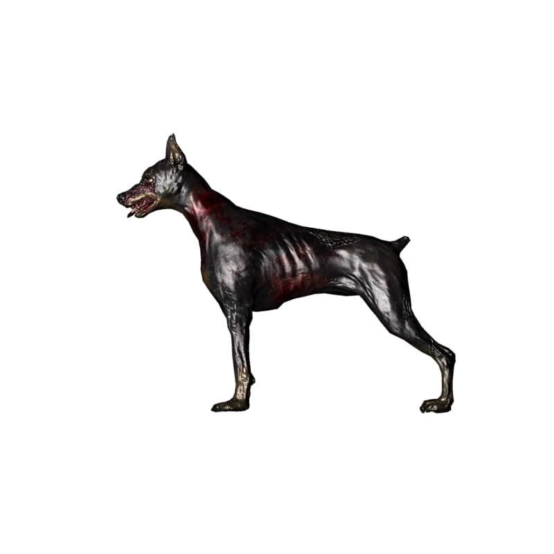 zombie dog 3d model