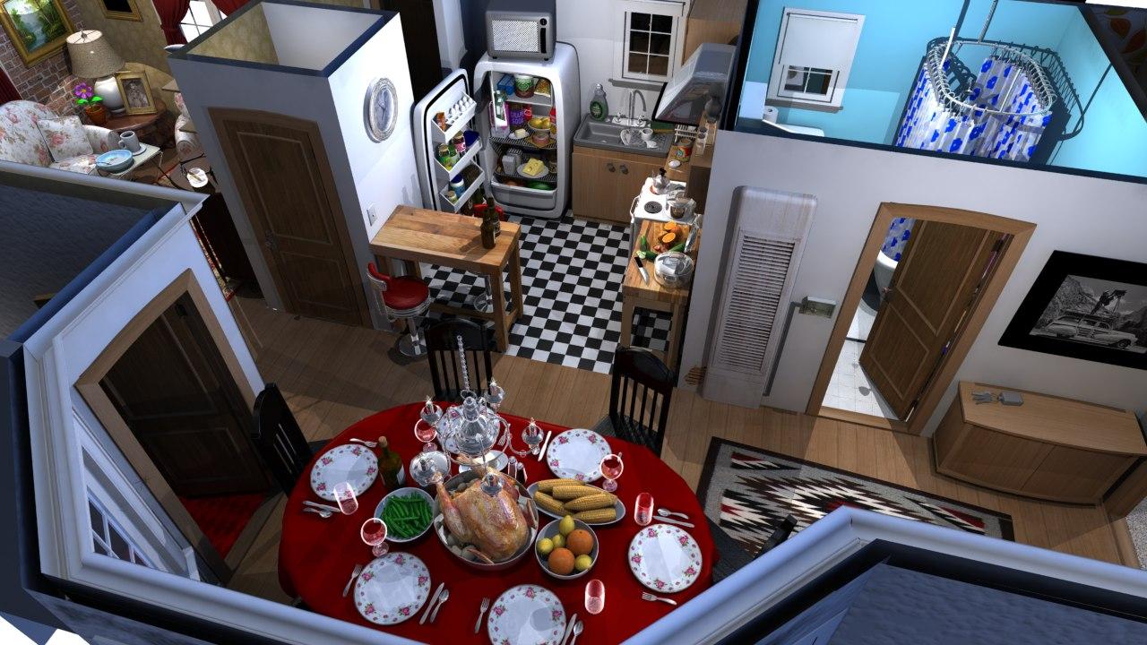 interior modeled ma