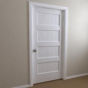 3d interior door - 4-panel