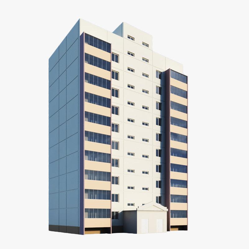 3d model of building residential module