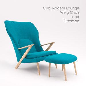 free max model chair ottoman