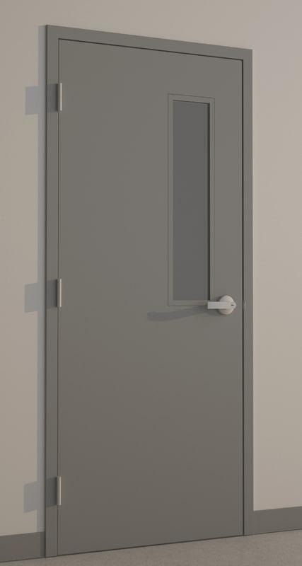 hollow metal door 3d model