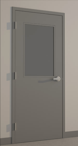 hollow metal door 3d max