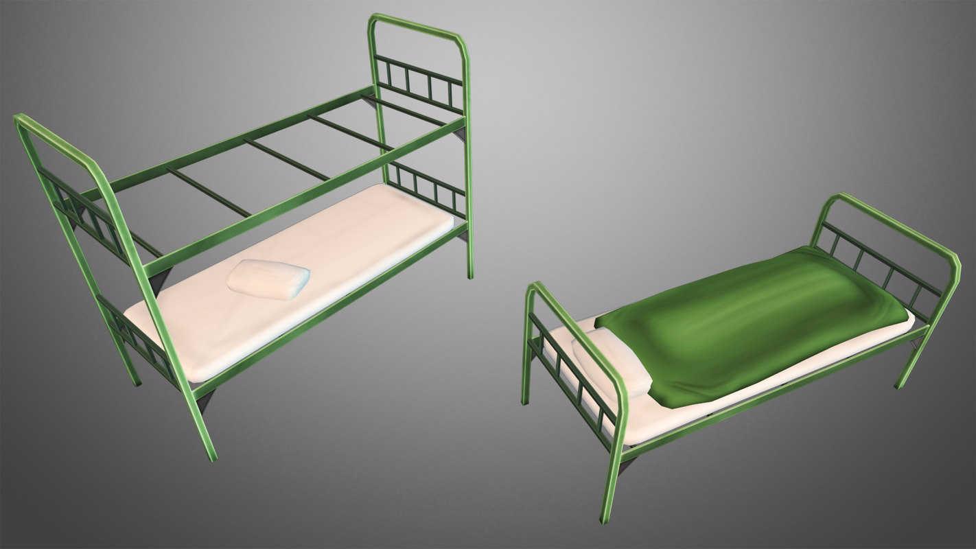 3d military beds model