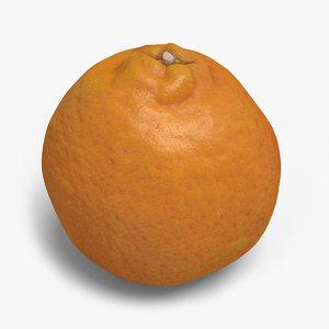 3d model of mandarin ready unreal