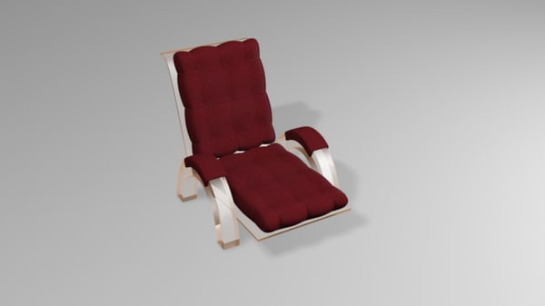 glass leather chair 3d model
