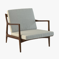 danish modern selig lounge chair 3d model