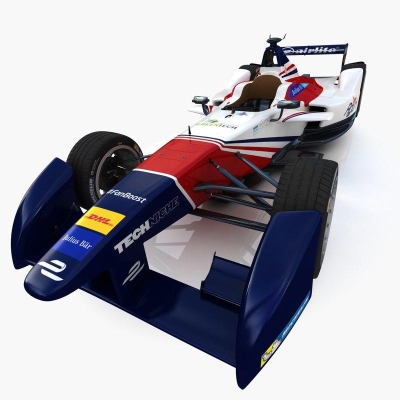 3d aguri formula e team model