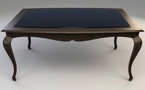 3d model elegant dining table