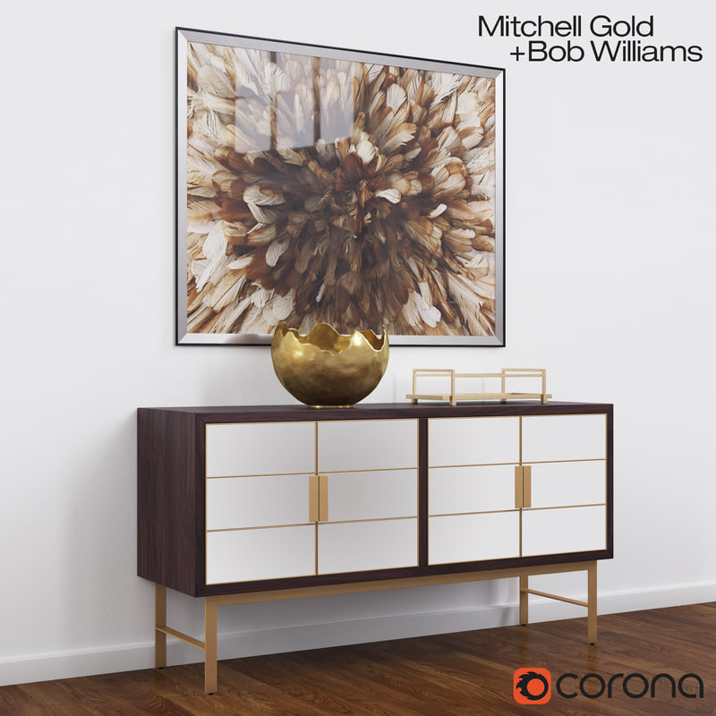 delaney buffet mitchell gold 3d max