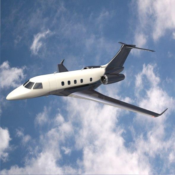 private embraer jet 3d model