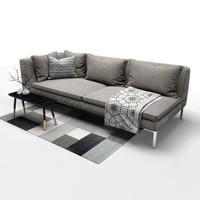 3d sofa b italia charles model