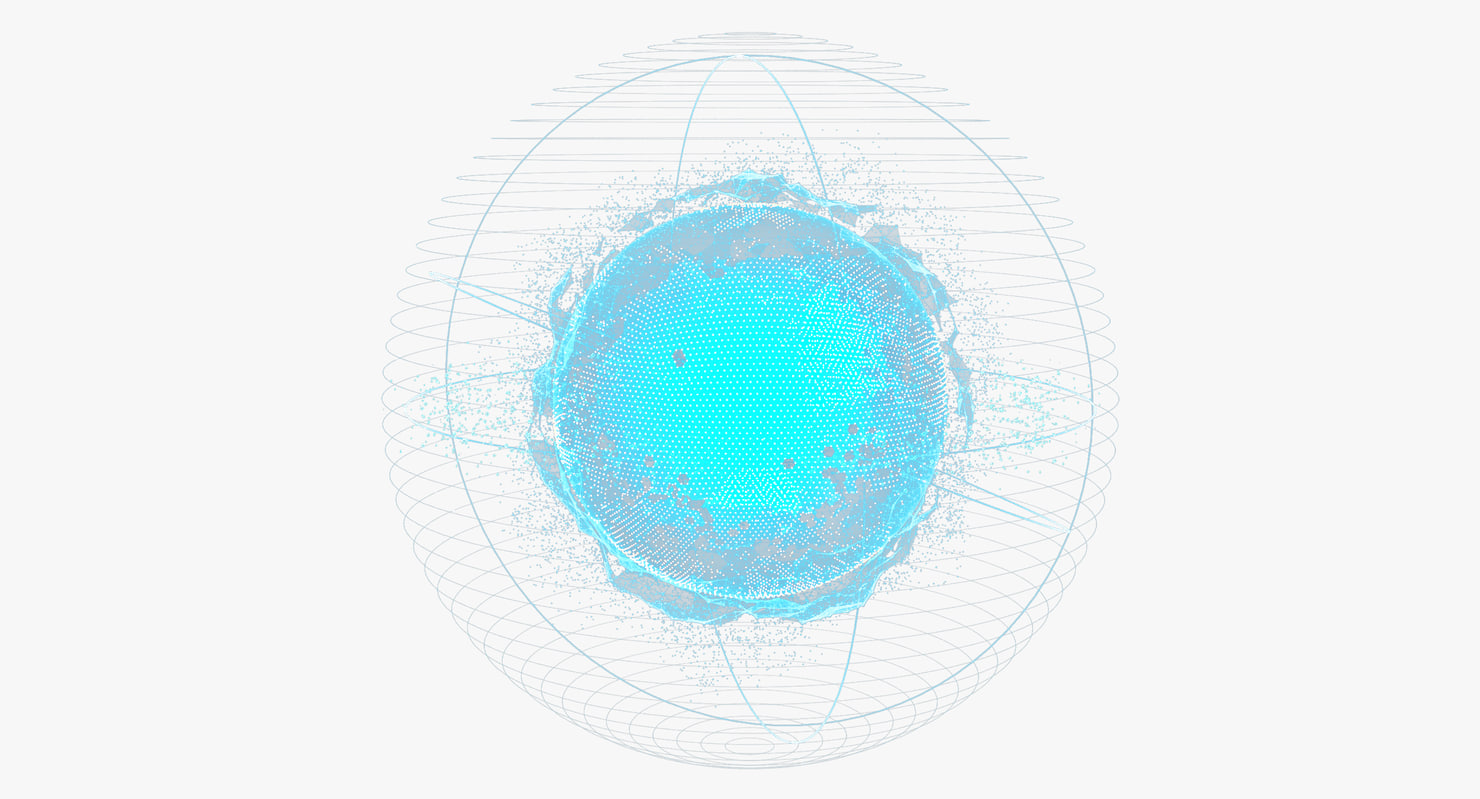 3d hologram planet animation model