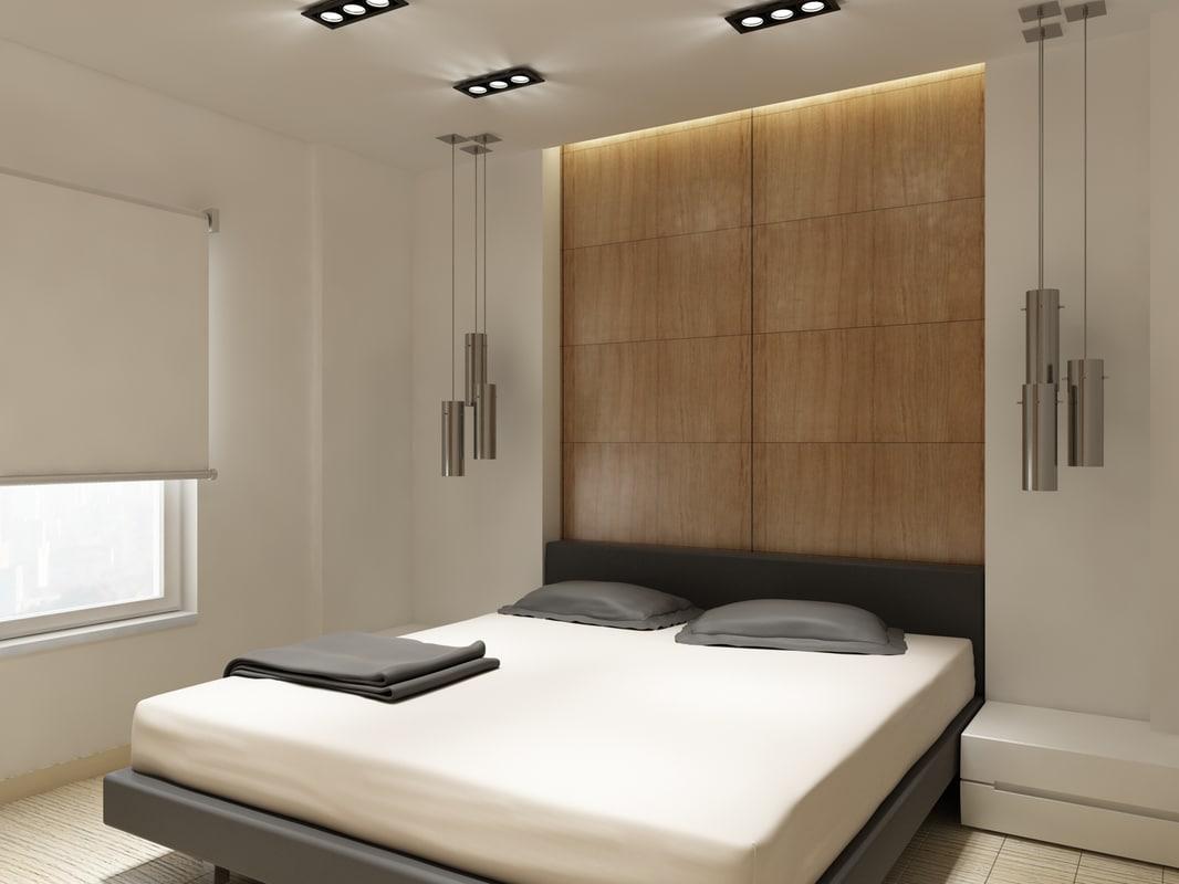 bedroom bed design 3d max