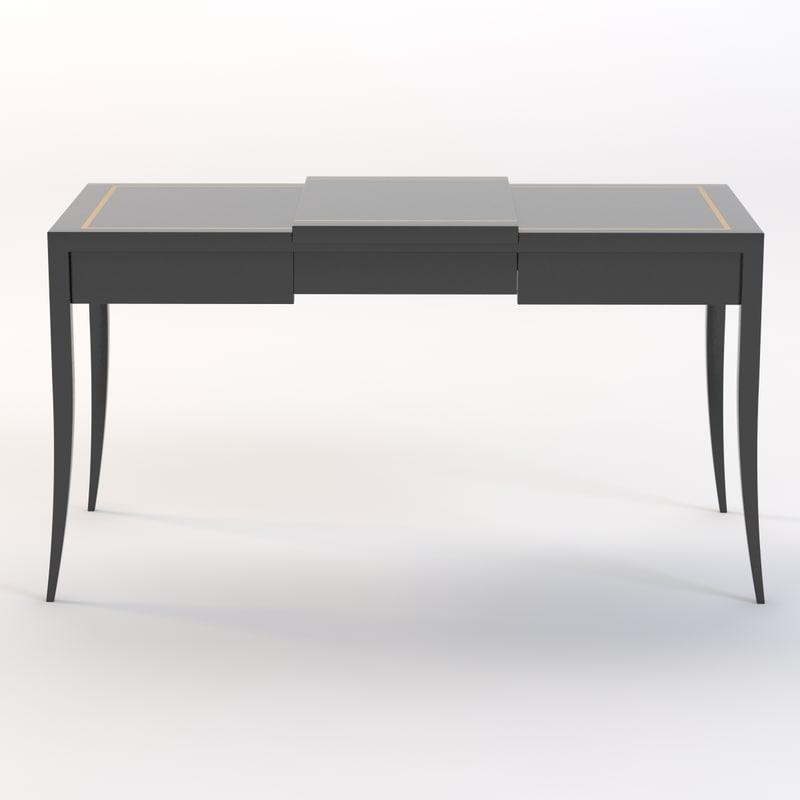 3d max mid-century vanity table