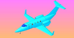 japan business aircraft solid 3ds