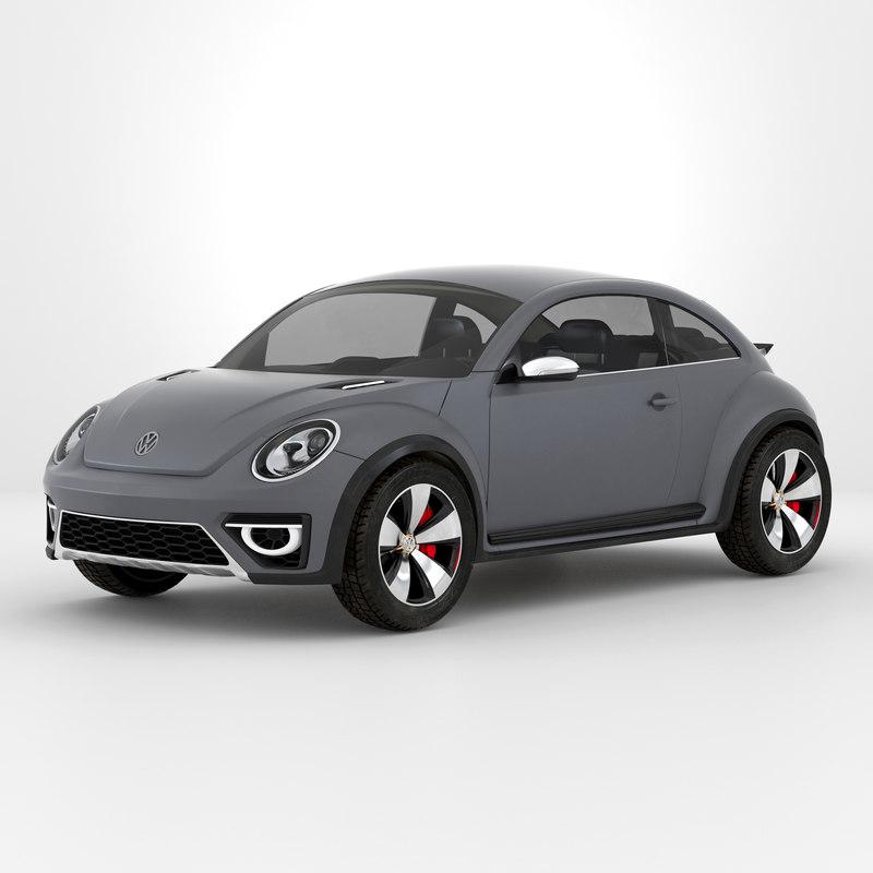 volkswagen beetle 2016 simple 3d 3ds