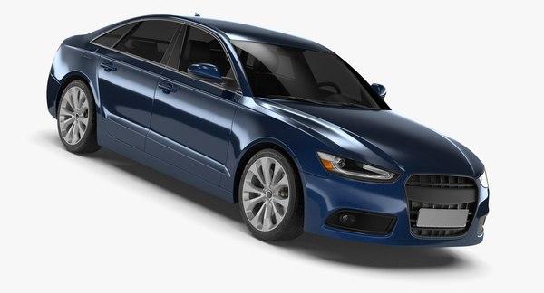 generic sedan 1 3d model