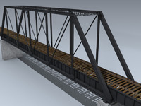 train trestle bridge 3d model