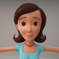 3d model cartoon woman