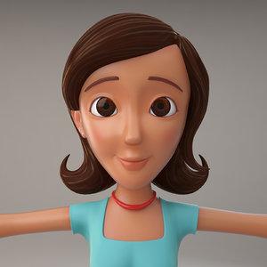 3d model cartoon woman