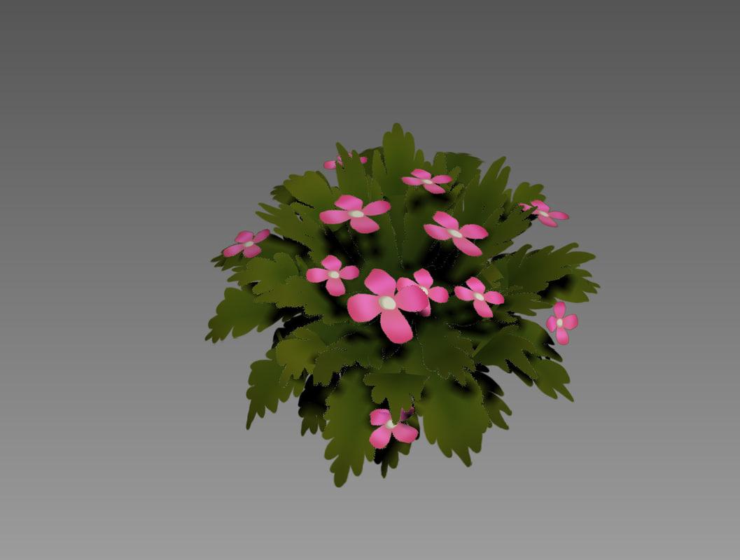 3d model of bush