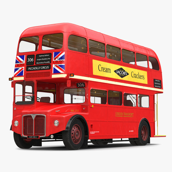 3d london bus routemaster model