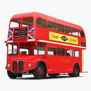 3d london bus routemaster model