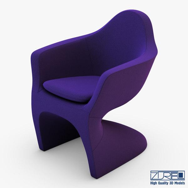 3d lotem chair purple