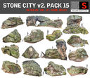 3d model stone forest 15 pack
