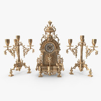 Antique Clock Set