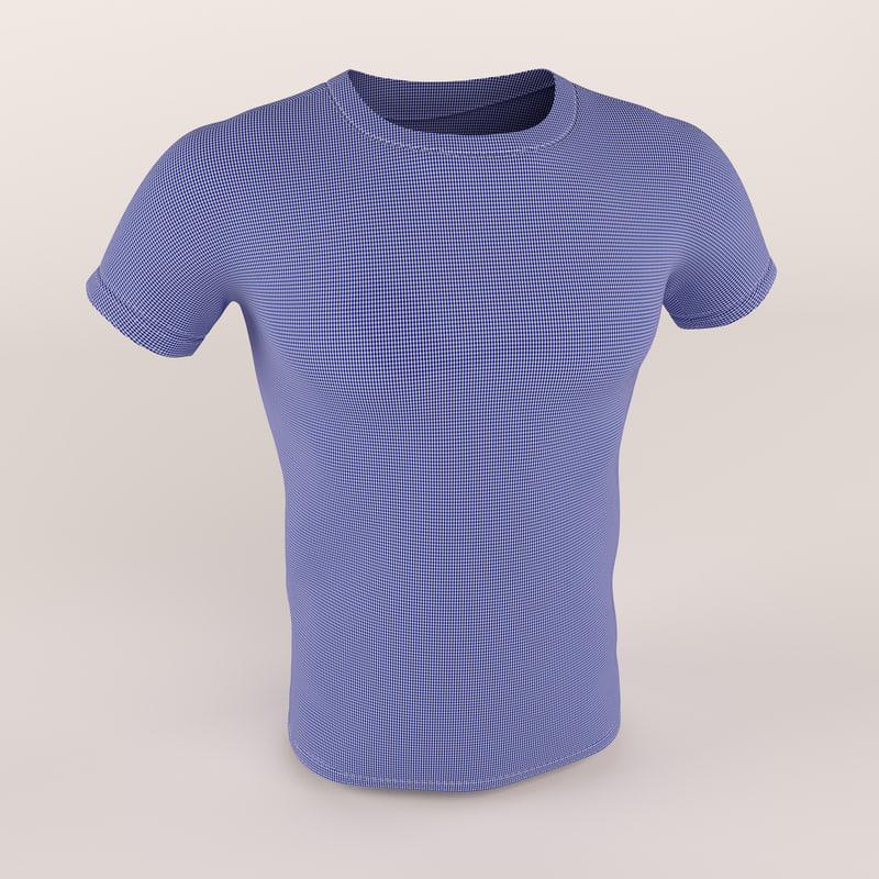 men t-shirt shirt 3d model