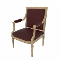 baroque chair design 3d max