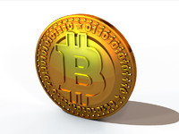 bitcoin 3d obj