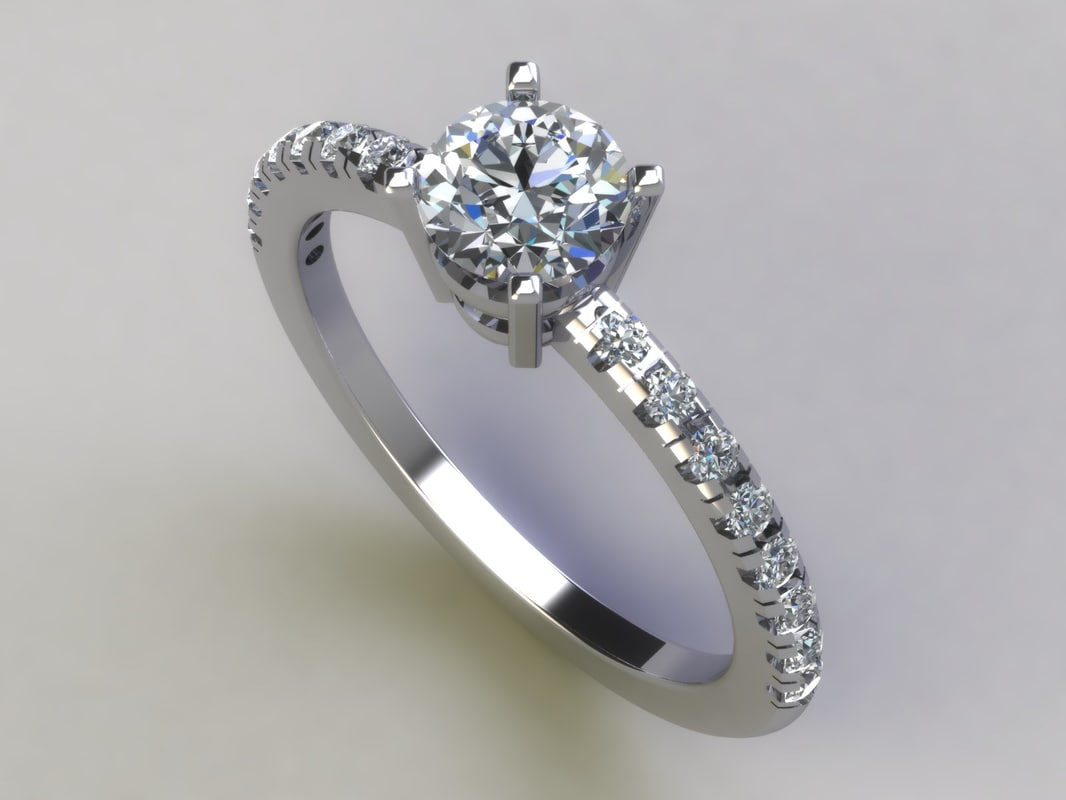 3d model solitaire ring 002